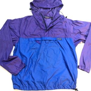 Vintage Patagonia windbreaker purple and blue